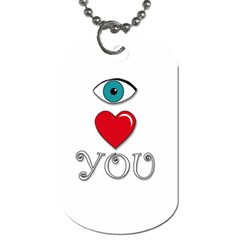 I Love You Dog Tag (two Sides) by Valentinaart