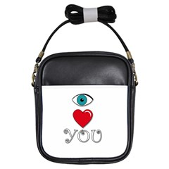 I Love You Girls Sling Bags by Valentinaart