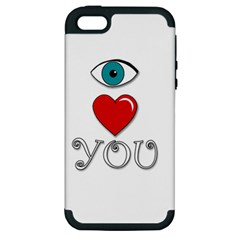 I Love You Apple Iphone 5 Hardshell Case (pc+silicone) by Valentinaart