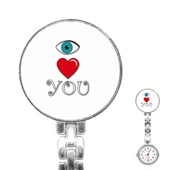 I Love You Stainless Steel Nurses Watch by Valentinaart