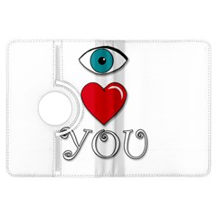 I love you Kindle Fire HDX Flip 360 Case by Valentinaart