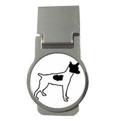 Rat Terrier Silo Color Money Clips (Round)  by TailWags