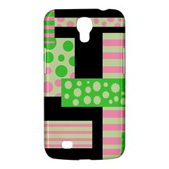 Green And Pink Collage Samsung Galaxy Mega 6 3  I9200 Hardshell Case by Valentinaart