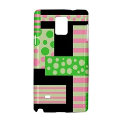 Green And Pink Collage Samsung Galaxy Note 4 Hardshell Case by Valentinaart