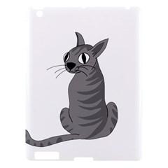Gray Cat Apple Ipad 3/4 Hardshell Case by Valentinaart