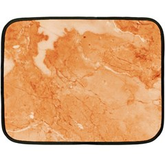 Rose Gold Marble Stone Print Double Sided Fleece Blanket (mini)  by Dushan