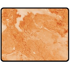Rose Gold Marble Stone Print Double Sided Fleece Blanket (medium)  by Dushan