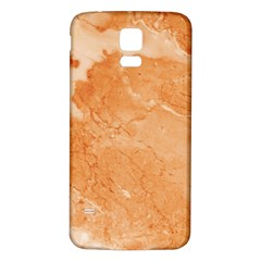 Rose Gold Marble Stone Print Samsung Galaxy S5 Back Case (white) by Dushan