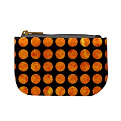 Circles1 Black Marble & Orange Marble Mini Coin Purse by trendistuff