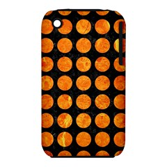 Circles1 Black Marble & Orange Marble Apple Iphone 3g/3gs Hardshell Case (pc+silicone) by trendistuff