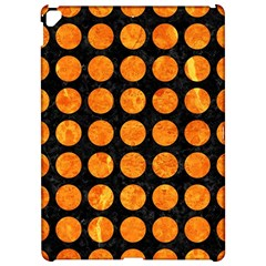 Circles1 Black Marble & Orange Marble Apple Ipad Pro 12 9   Hardshell Case by trendistuff
