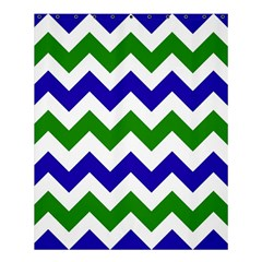 Blue And Green Chevron Shower Curtain 60  X 72  (medium)  by AnjaniArt