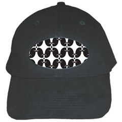 Black Flower Accents Black Cap by AnjaniArt
