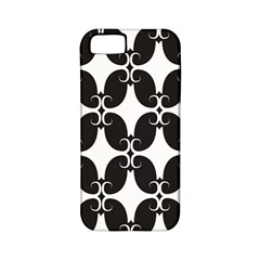 Black Flower Accents Apple Iphone 5 Classic Hardshell Case (pc+silicone) by AnjaniArt