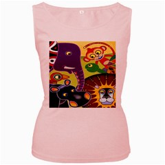 Animals Women s Pink Tank Top by AnjaniArt