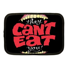 Cant Eat Netbook Case (medium)  by AnjaniArt