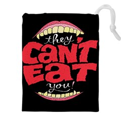 Cant Eat Drawstring Pouches (XXL) by AnjaniArt