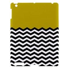 Colorblock Chevron Pattern Mustard Apple Ipad 3/4 Hardshell Case by AnjaniArt