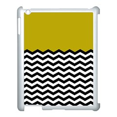 Colorblock Chevron Pattern Mustard Apple Ipad 3/4 Case (white) by AnjaniArt
