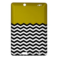 Colorblock Chevron Pattern Mustard Amazon Kindle Fire Hd (2013) Hardshell Case by AnjaniArt
