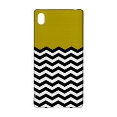 Colorblock Chevron Pattern Mustard Sony Xperia Z3+ by AnjaniArt