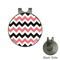 Chevron Crazy On Pinterest Blue Color Hat Clips With Golf Markers by AnjaniArt