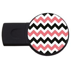 Chevron Crazy On Pinterest Blue Color Usb Flash Drive Round (4 Gb)  by AnjaniArt