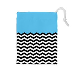 Color Block Jpeg Drawstring Pouches (large)  by AnjaniArt