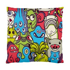 Colourful Monster Flooring Standard Cushion Case (two Sides) by AnjaniArt