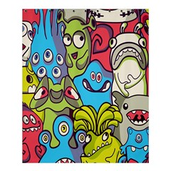 Colourful Monster Flooring Shower Curtain 60  X 72  (medium)  by AnjaniArt