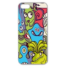 Colourful Monster Flooring Apple Seamless Iphone 5 Case (clear) by AnjaniArt