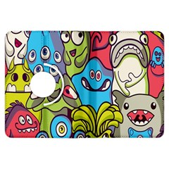 Colourful Monster Flooring Kindle Fire Hdx Flip 360 Case by AnjaniArt