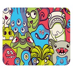 Colourful Monster Flooring Double Sided Flano Blanket (small)  by AnjaniArt