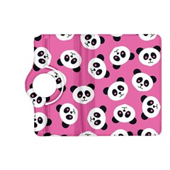 Cute Panda Pink Kindle Fire Hd (2013) Flip 360 Case by AnjaniArt