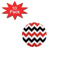 Colored Chevron Printable 1  Mini Magnet (10 Pack)  by AnjaniArt