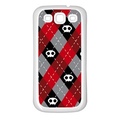 Cute Scull Samsung Galaxy S3 Back Case (white) by AnjaniArt
