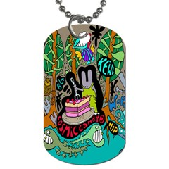 Cosmic Candy Monster Dog Tag (one Side) by AnjaniArt