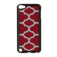 Flower Red Light Blue Apple Ipod Touch 5 Case (black) by AnjaniArt
