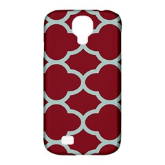 Flower Red Light Blue Samsung Galaxy S4 Classic Hardshell Case (pc+silicone) by AnjaniArt