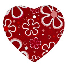 Flower Red Cute Ornament (heart)  by AnjaniArt