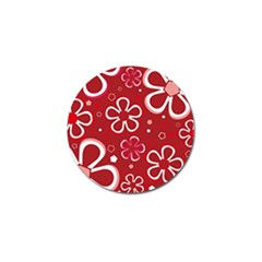 Flower Red Cute Golf Ball Marker (10 Pack) by AnjaniArt