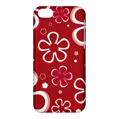 Flower Red Cute Apple Iphone 5c Hardshell Case by AnjaniArt