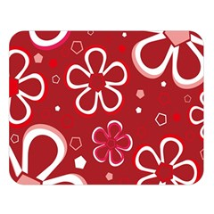 Flower Red Cute Double Sided Flano Blanket (large)  by AnjaniArt