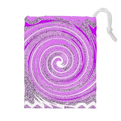 Digital Purple Party Pattern Drawstring Pouches (Extra Large) by Zeze