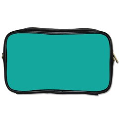 Green Blue Toiletries Bags 2 Side by AnjaniArt