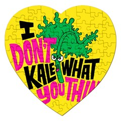 Idont Kale Think Jigsaw Puzzle (Heart) by AnjaniArt