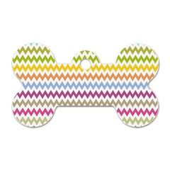 Color Full Chevron Dog Tag Bone (one Side) by AnjaniArt