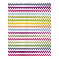Color Full Chevron Shower Curtain 60  X 72  (medium)  by AnjaniArt