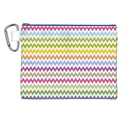 Color Full Chevron Canvas Cosmetic Bag (xxl) by AnjaniArt