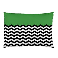Lime Green Chevron Pillow Case (two Sides) by AnjaniArt